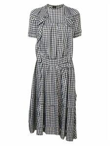 Comme Des Garçons Pre-Owned gingham check shirt dress - Black