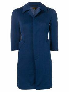 COMME DES GARÇONS PRE-OWNED Deformation coat - Blue