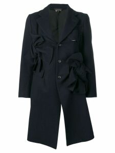 COMME DES GARÇONS PRE-OWNED bow detailed coat - Blue