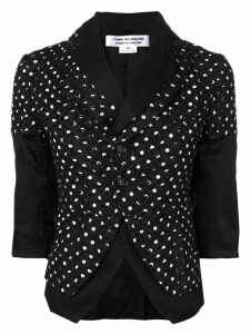 Comme Des Garçons Pre-Owned panelled polka dot print jacket - Black
