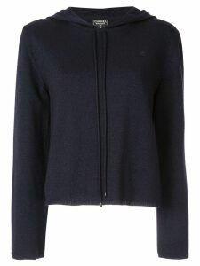 Chanel Pre-Owned knitted hoodie - Blue