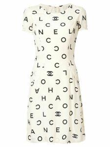 Chanel Pre-Owned logo print dress - White