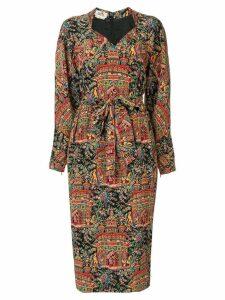 Hermès Pre-Owned printed midi dress - Multicolour