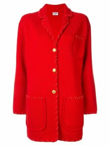Céline Pre-Owned contrast stitch jacket - Red