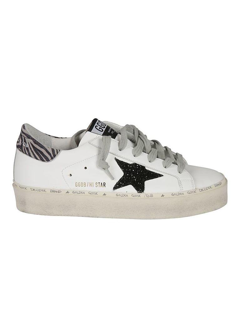 Golden Goose Hi Star Zebra Print Sneakers