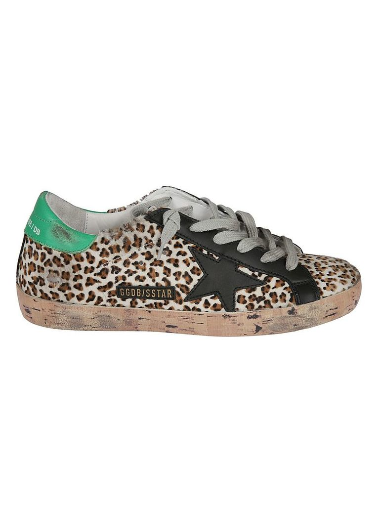 Golden Goose Leopard Superstar Sneakers