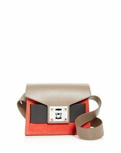 Salar Mila Small Color-Block Suede & Leather Shoulder Bag