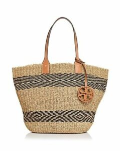Tory Burch Miller Straw Striped Tote