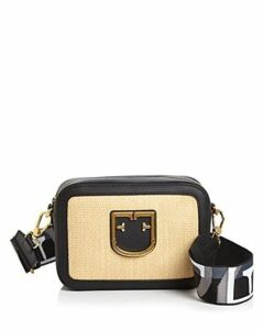 Furla Brava Raffia Camera Crossbody