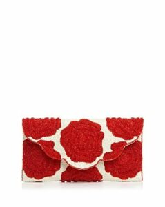 From St Xavier Rosie Ii Floral Beaded Clutch