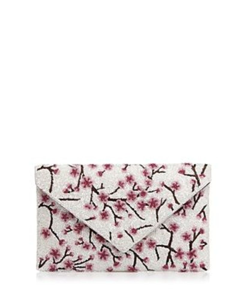 From St Xavier Medium Cherry Blossom Beaded Clutch