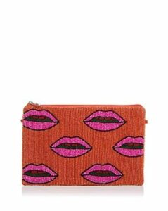 From St Xavier Medium Lips Beaded Clutch