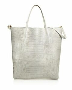 Alice.d Large Croc-Embossed Tote