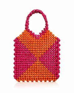 Aqua Mini Wood Beaded Tote - 100% Exclusive
