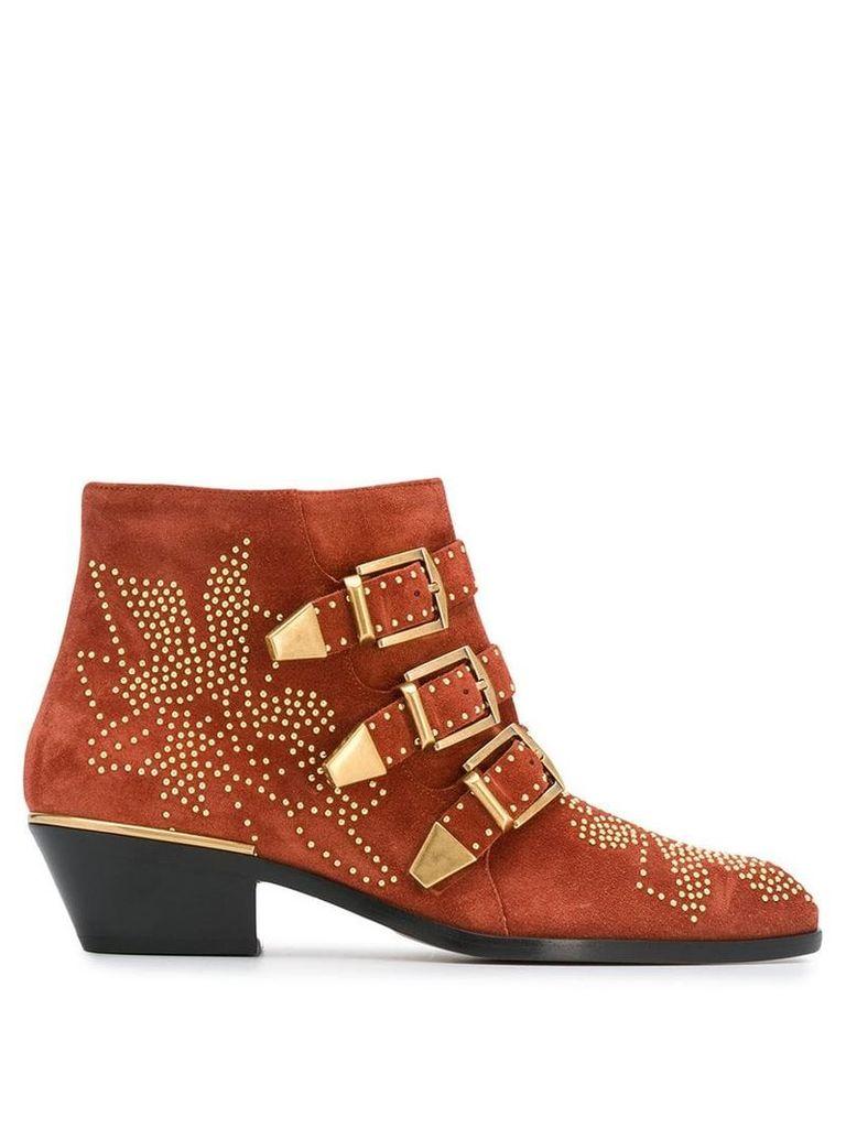 Chloé Susanna ankle boots - Orange