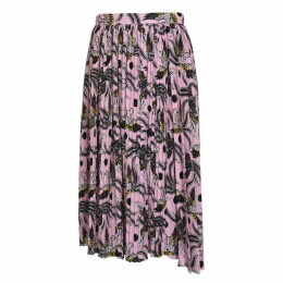 KENZO Flying Phoenix Pleated Skirt