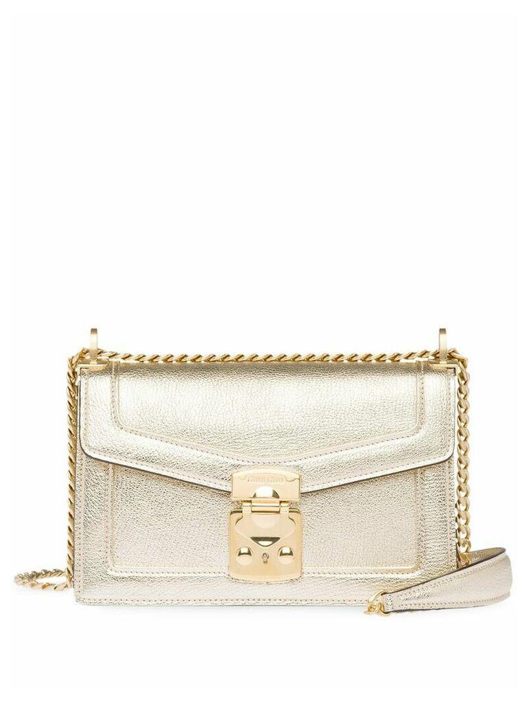 Miu Miu Confidential shoulder bag - Gold