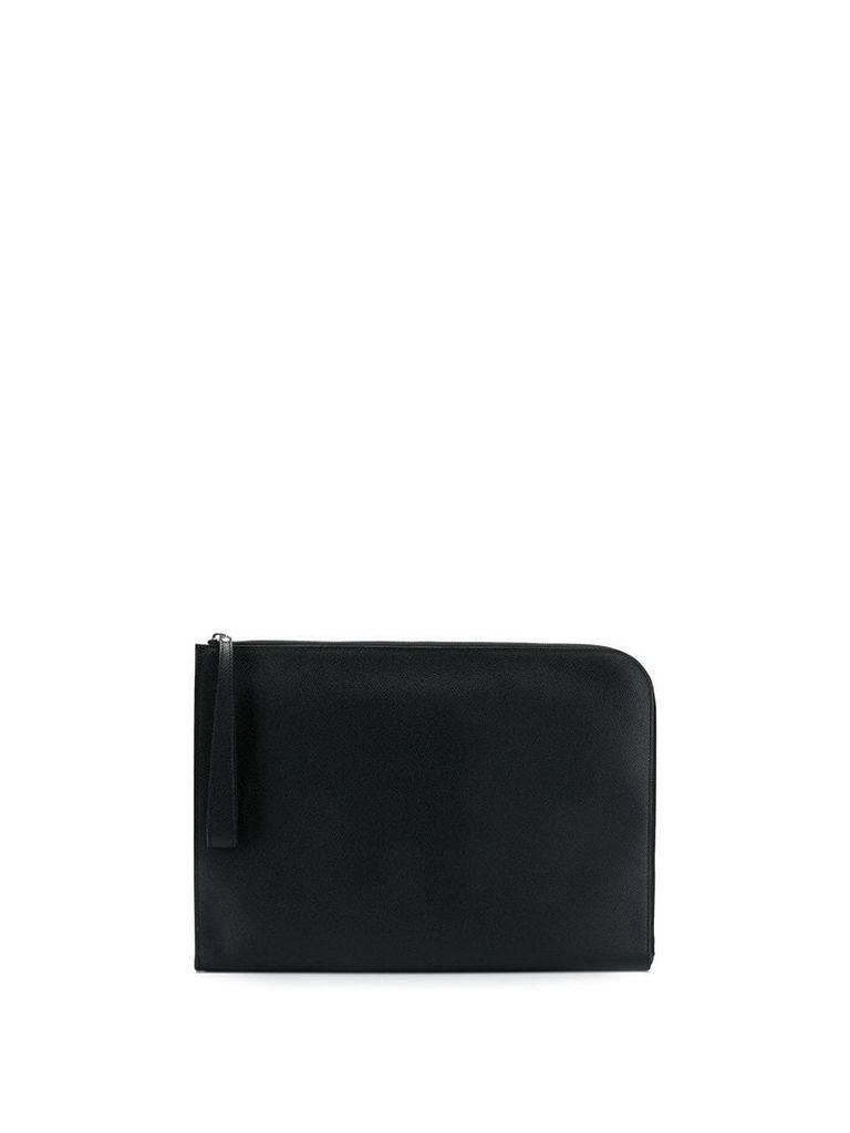 Valextra zipped laptop bag - Black