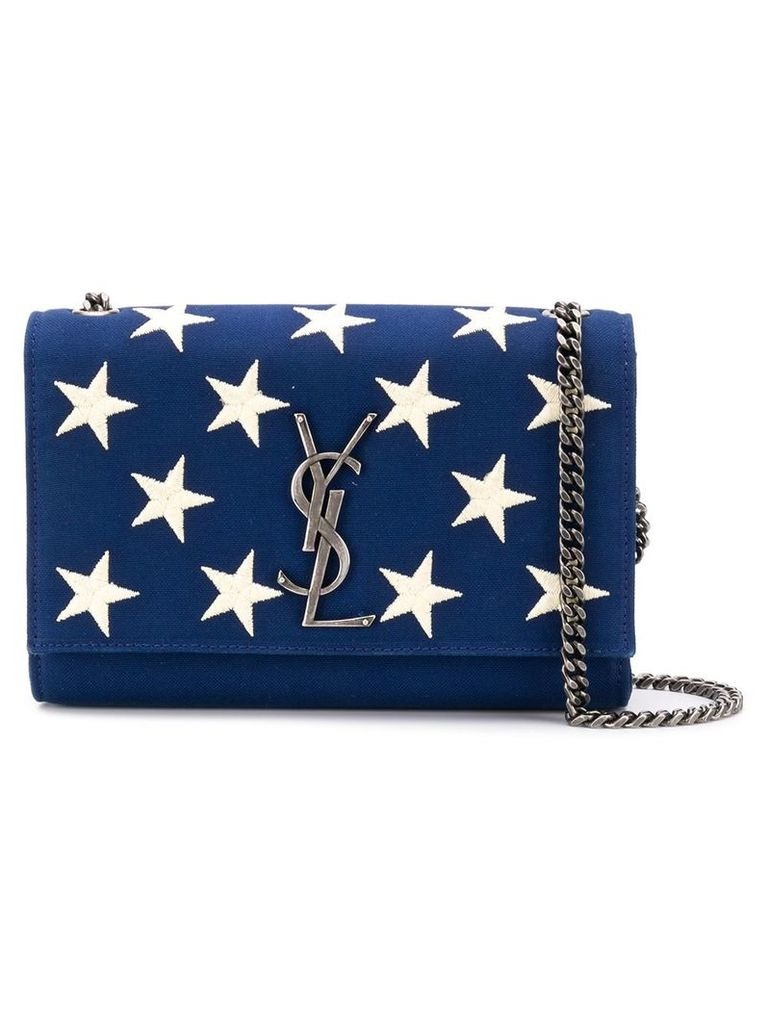 Saint Laurent small Kate bag with embroidered stars - Blue