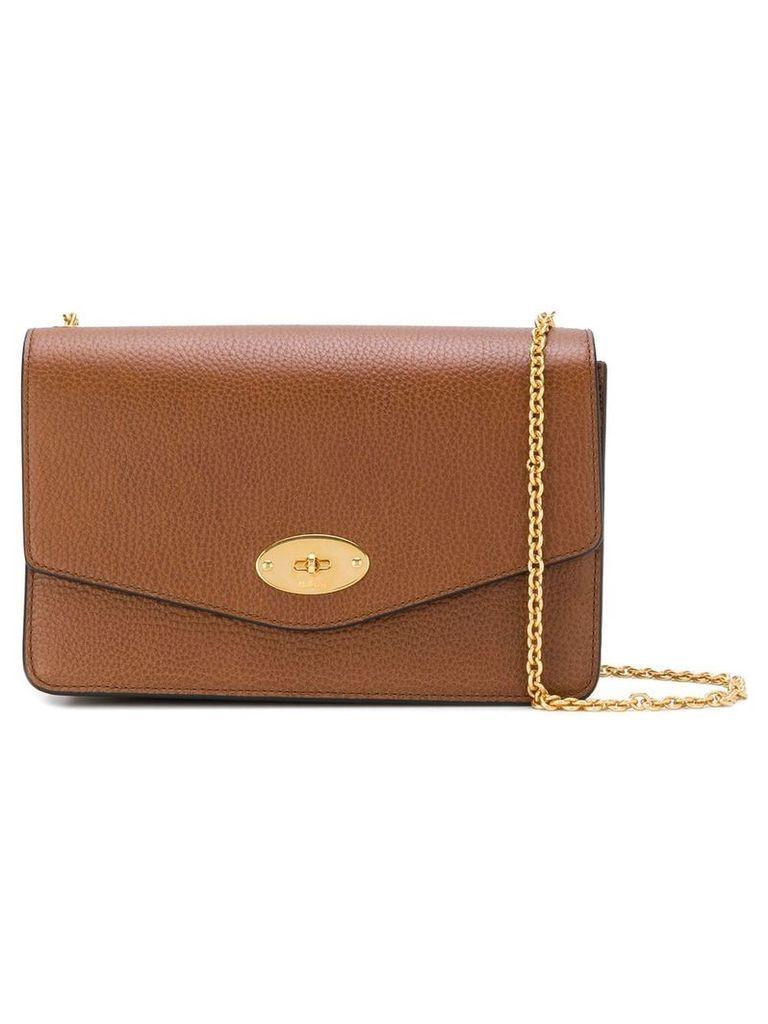 Mulberry flip lock shoulder bag - Brown