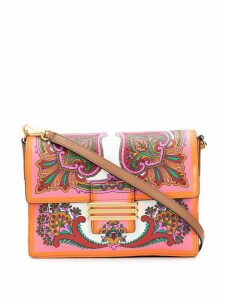 Etro printed shoulder bag - Orange