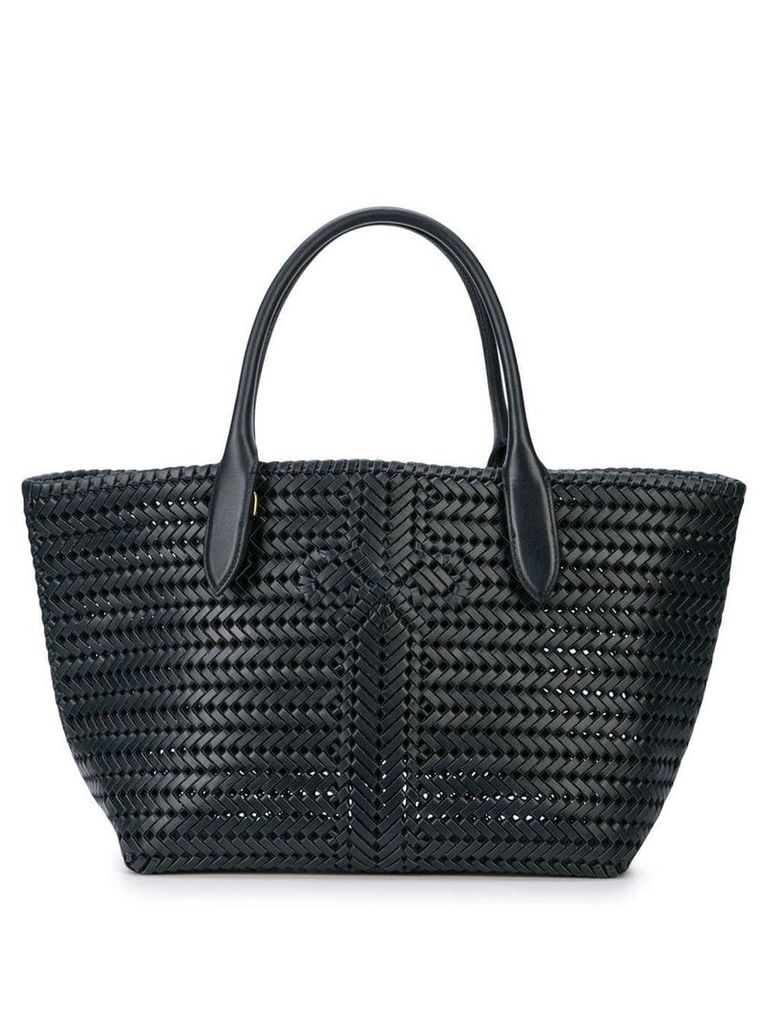 Anya Hindmarch woven logo tote bag - Blue