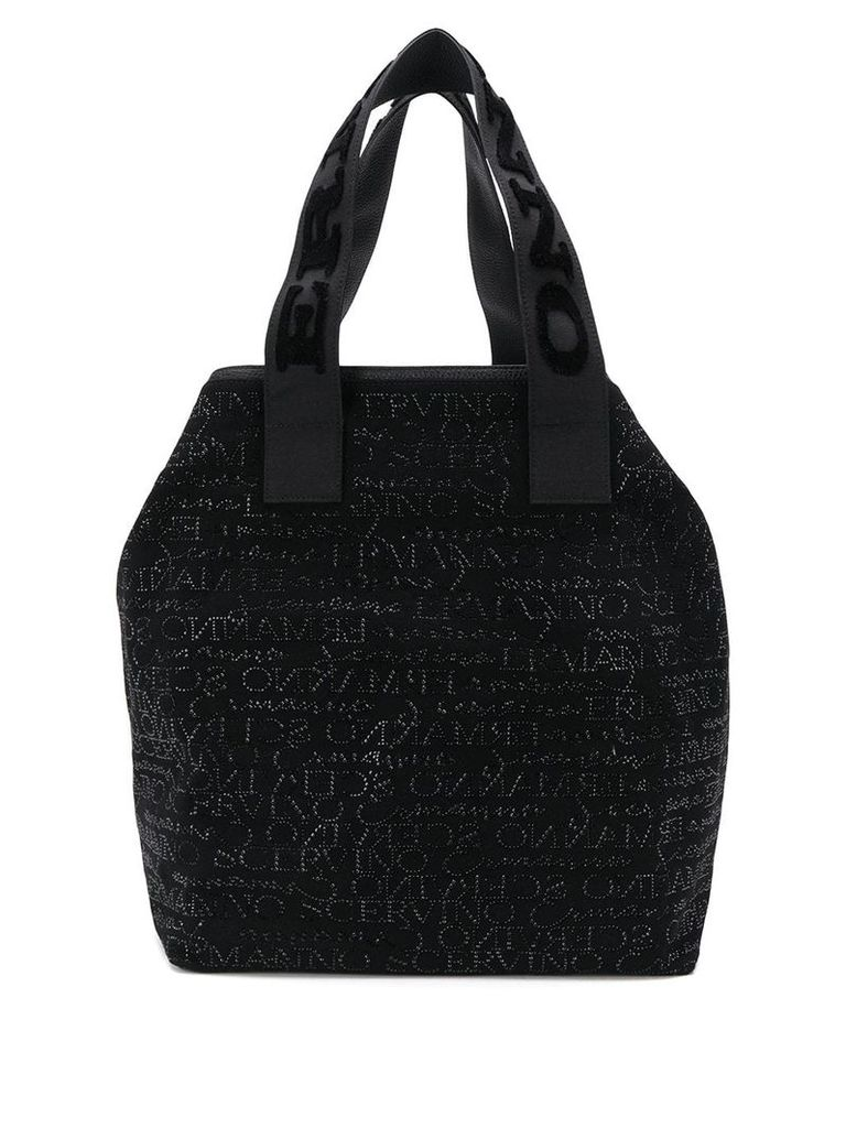Ermanno Scervino studded logo tote bag - Black