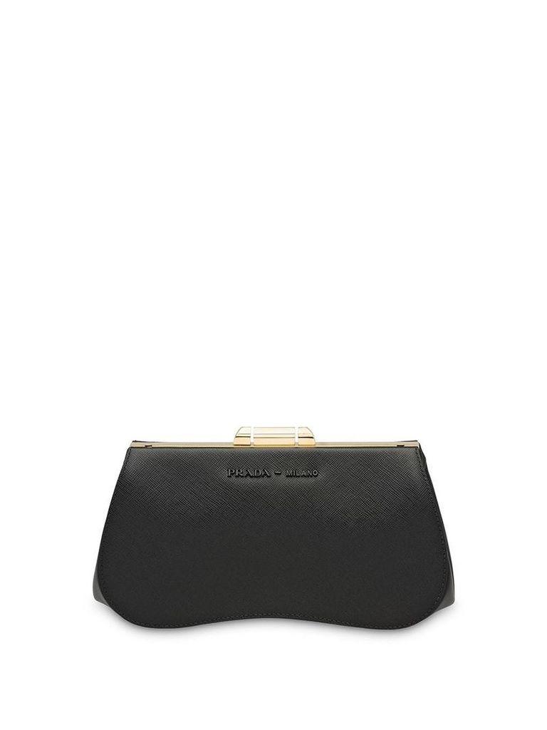 Prada Prada Sidonie Saffiano leather clutch - Black