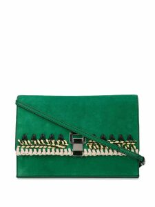 Proenza Schouler Suede Crochet Small Lunch Bag - Green
