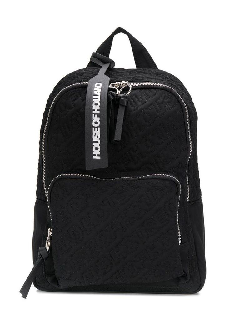 HOUSE OF HOLLAND embroidered logo backpack - Black