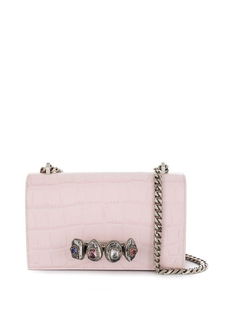 Alexander McQueen jewelled satchel bag - Pink