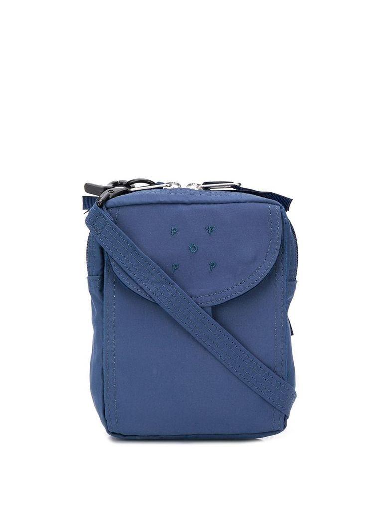 Pop Trading Company logo messenger bag - Blue