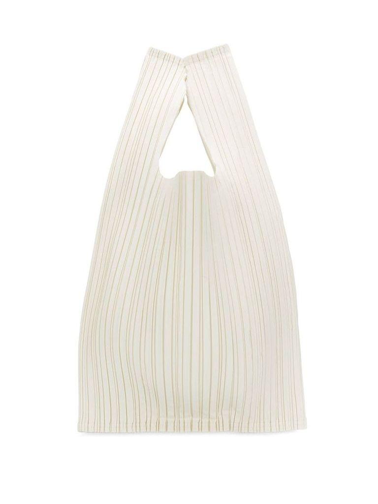 Issey Miyake micro-pleated tote bag - White
