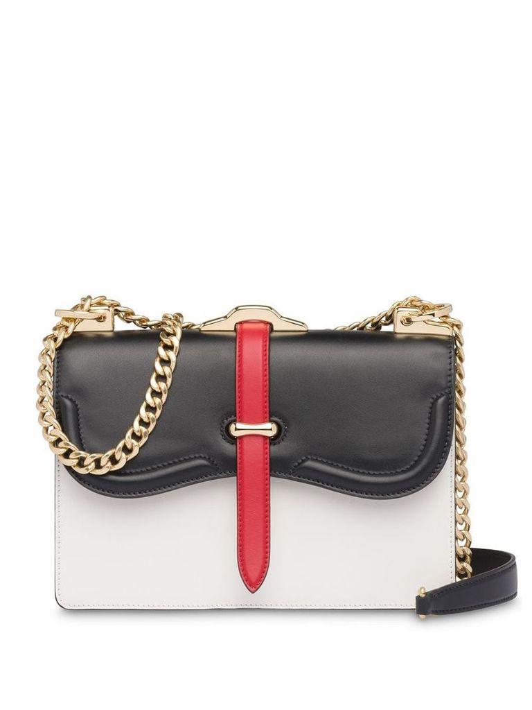 Prada Prada Belle leather shoulder bag - White