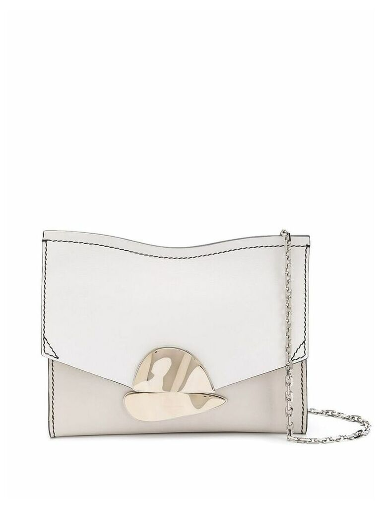 Proenza Schouler Small Curl Chain Clutch - White