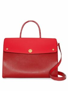 Burberry Small Leather and Suede Elizabeth Bag - Red