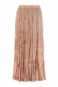 Mes Demoiselles Shamadan Silk Midi Skirt