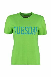 Alberta Ferretti Fluo Rainbow Week Tuesday T-shirt