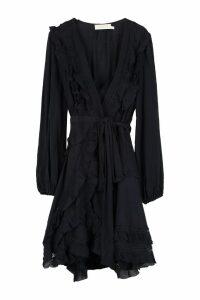 Zimmermann Frill Wrap-dress