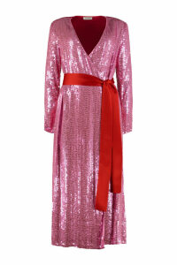 The Attico Sequined Wrap-dress