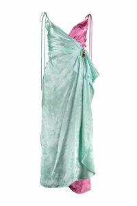 The Attico Jacquard Satin Drap-dress