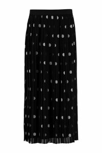 Zimmermann Polka-dot Print Pleated Skirt