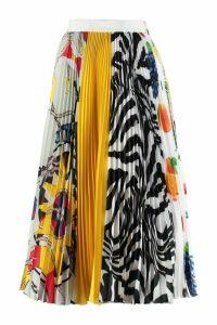 MSGM Printed Pleated Skirt