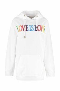 Alberta Ferretti Love Is Love Cotton Hoodie