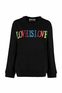 Alberta Ferretti Love Is Love Cotton Sweatshirt