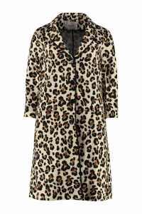 Jucca Leopard Print Cotton Swing Coat