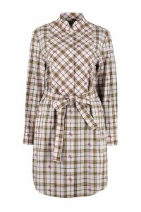 Burberry Checked Cotton Shirtdress
