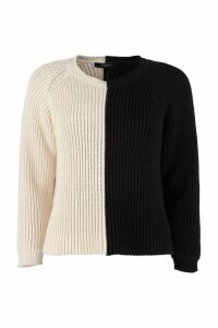 Weekend Max Mara Atalia Color Block Cotton Sweater