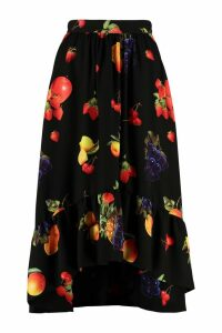 MSGM Printed Asymmetric Skirt