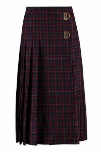 Burberry Long Tartan Wool Kilt